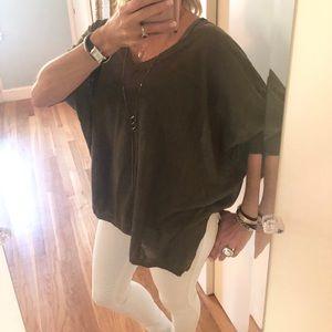 Acrobat 3/4 Sleeve Linen Sweater